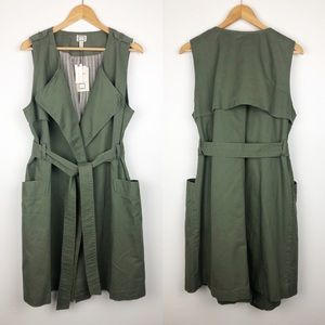 NWT Anthro• Mo:Vint Military Trench Vest